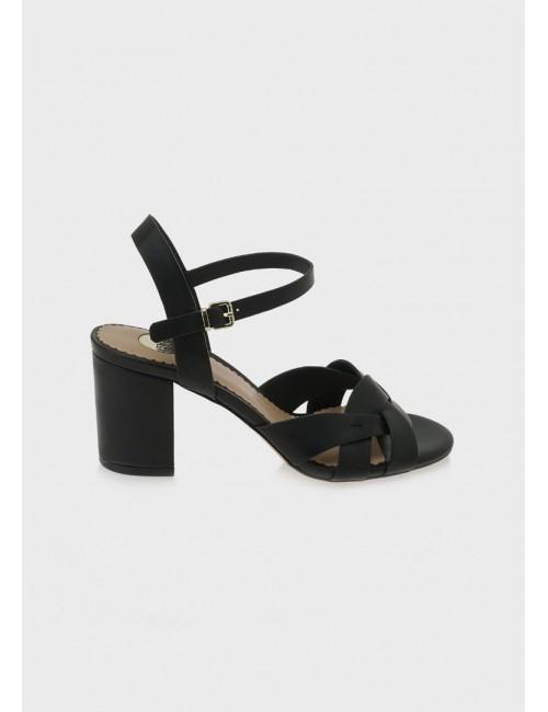 Γυναικείο παπούτσι EXE M47002674001 δέρμα ΜΑΥΡΟ